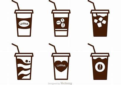 Coffee Iced Vector Clipart Vectors Drawing Cups