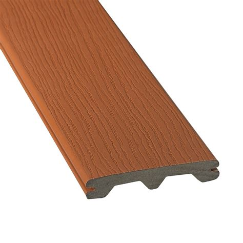 Trex Decking Home Depot Canada by Veranda 20 Ft Composite Grooved Decking Redwood The
