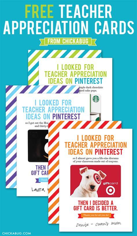 creative ways  give teachers  gift card happy home fairy