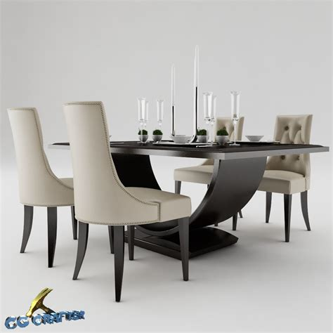 Dining Table Set 3d Model Max Obj 3ds Fbx Cgtrader