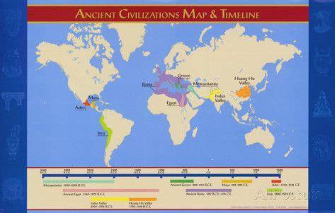 ancient civilizations map timeline posters teach