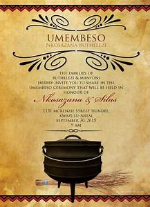 thando south african umembeso traditional wedding With wedding invitations wording south africa
