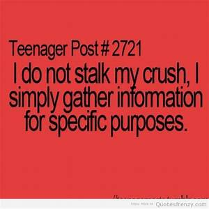 crush funny teenagerpost cute laughing stalker Quotes ...