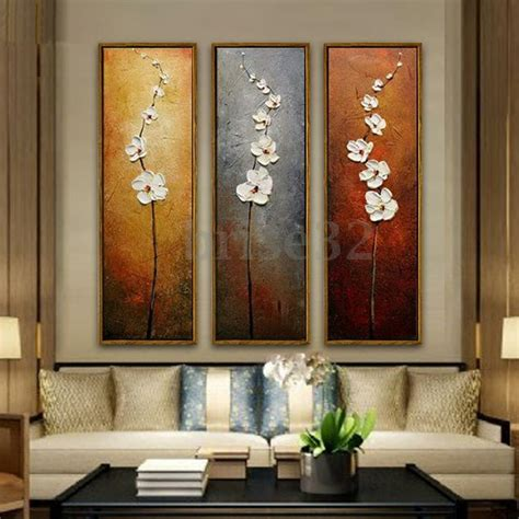3Pcs Colorful Flower Canvas Abstract Painting Print Art