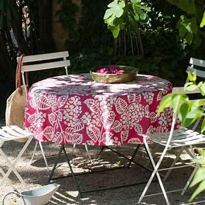 Tissu Enduit Pour Nappe : nappe carr e 100 coton enduit motif hortensia blanc 160x160cm hortensia fleur de soleil ~ Teatrodelosmanantiales.com Idées de Décoration