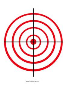 printable circles target