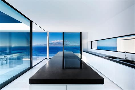 minimalist greek villa  dramatic ocean  island view idesignarch interior design