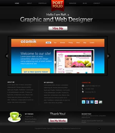 free portfolio website templates psd website templates free high quality designs designrfix