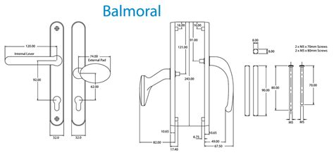 Balmoral 92pz Lever/pad Door Handle By Fab & Fix