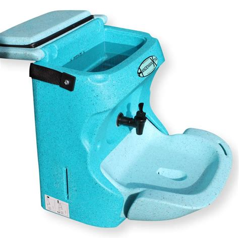 mobile hand wash sink unit handeman xtra portable teal portable sinks