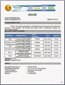 Mba Resume Format For Freshers Pdf Fresher Resume Format