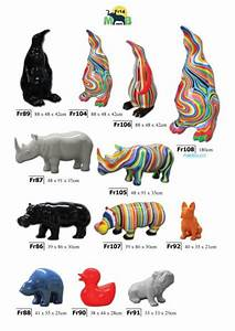 Statue Animaux Design : animaux color s design en r sine objets d coration ola creation ~ Teatrodelosmanantiales.com Idées de Décoration