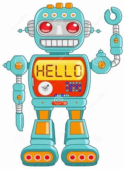 Clipart Robot Toy Vector Retro Hello Robots
