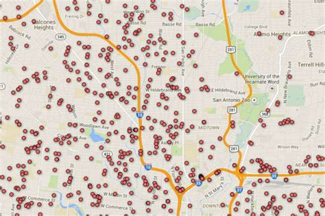 registered offenders texas map registered offender map of san antonio area zip codes