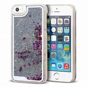 Coque Iphone 5 : coque crystal glitter liquid diamonds argent iphone 5 5s se ~ Teatrodelosmanantiales.com Idées de Décoration
