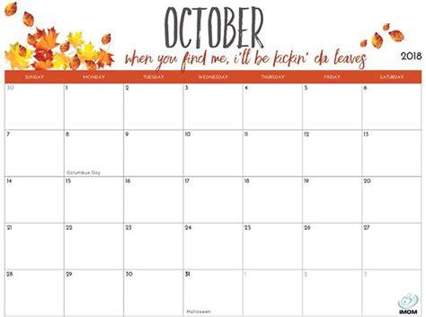 printable calendar  moms october calendar