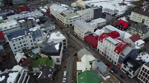 reykjavik islandia vista aerea desde  drone dji mavic