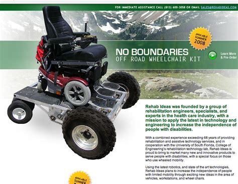 fauteuil electrique tout terrain un kit tout terrain pour fauteuil 233 lectrique