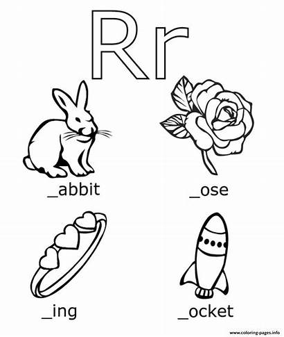 Coloring Words Pages Alphabet Printable