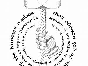 Mjolnir, Hammer of Thor. Viking God of Thunder. by Todd ...