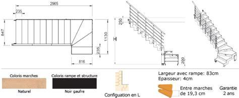 escalier quart tournant configuration quart avec marche