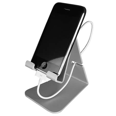 iphone stand iphone stand silver electronics communications telephony