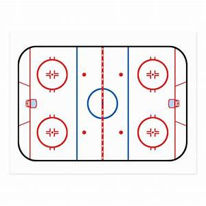 Ice Rink Diagram Hockey Game Design Postcard