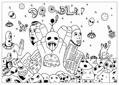 Doodle Coloring Doodling Pages Adult Labradoodle Adults