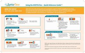 Using The Byetta Pen  U2013 Quick Reference Guide1 2