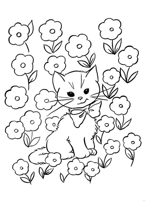 printable kitten coloring pages  kids
