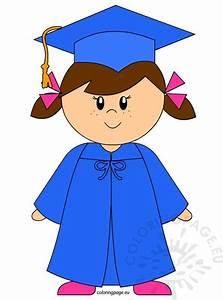 kindergarten graduate clip coloring page