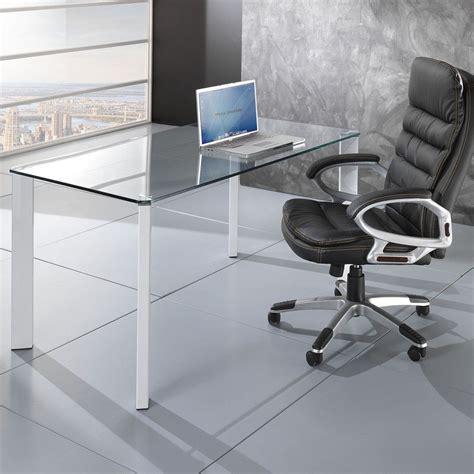 scrivanie vetro ufficio tavolo scrivania vetro per ufficio 140x80cm roxanne