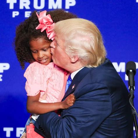 donald trump kisses girl  wisconsin rally