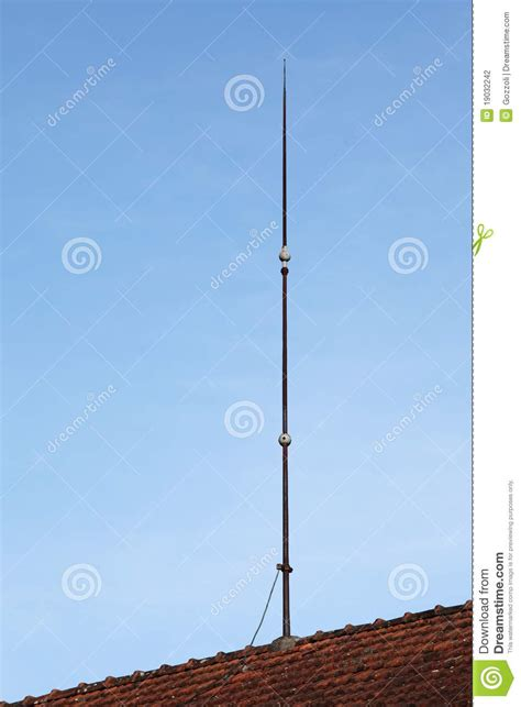 lightning conductor rod stock photography image
