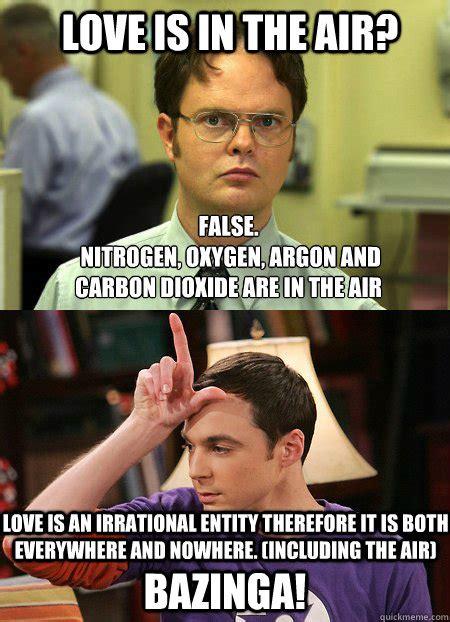 Love Is In The Air Meme - love is in the air sheldon meme memes