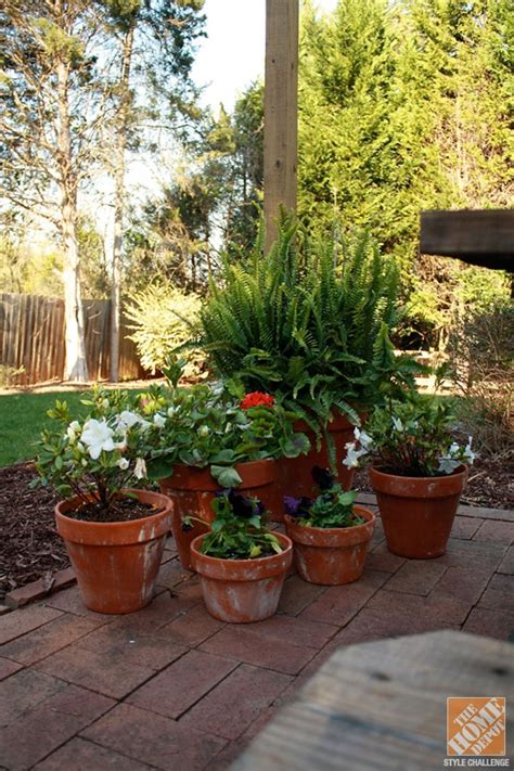 designing a patio layout decorating patio with potted plants