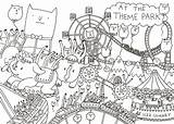 Colouring Park Drawing Amusement Map Template Coloring Step Fun Mistakes Making Sketch Pages Bog Process Layer Sure Each Any Place sketch template