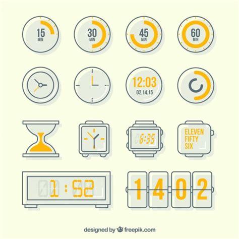 Variété Des Icônes D'horloge  Télécharger Des Vecteurs