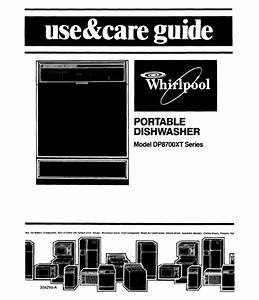 Whirlpool Dishwasher Dp8700xt Series User Guide