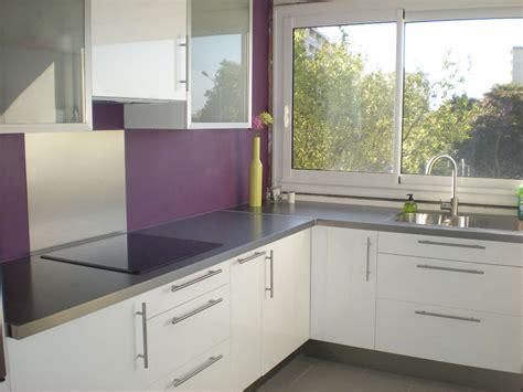 cuisine violette et blanc pas cher sur cuisine lareduc
