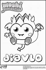Monster Pages Moshi Coloring Monsters Diavlo Colouring Cute Print Hard Printable Getcoloringpages Cheerful Personality Truly Because Library Clipart Popular sketch template