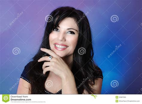Glossy Black Hair by Beautiful With Glossy Black Hair And Big Happy Smile