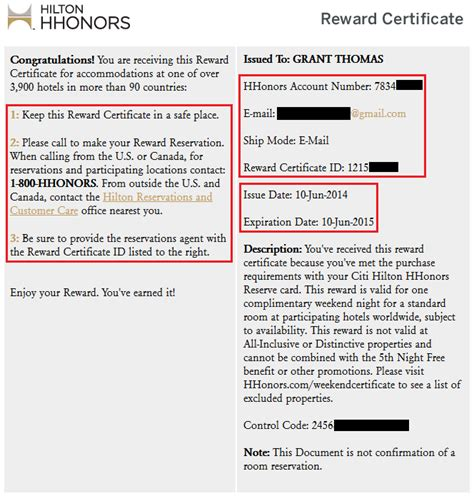 Hhonors Reservation Number by Search And Use A Free Weekend Certificate