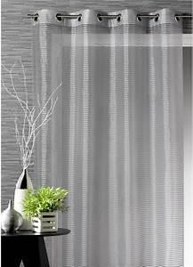 Voilage Gris Et Blanc : voilage gris tous les objets de d coration sur elle maison ~ Dailycaller-alerts.com Idées de Décoration
