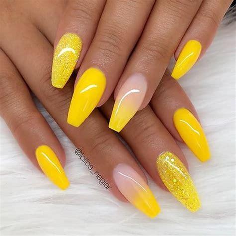 repost sunny yellow ombre effect  glitter