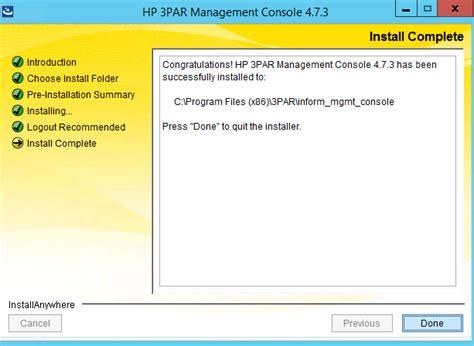 Installing The 3par Management Console D8tadude