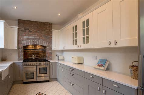 ivory shaker kitchen cabinets shaker kitchen white and grey shaker panorama kitchens 4886