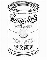 Soup Coloring Warhol Andy Pages Pop Cans Lessons Campbell Lesson Colouring Easy Project Arte Middle Handouts Success Adult Chaos Calculating sketch template