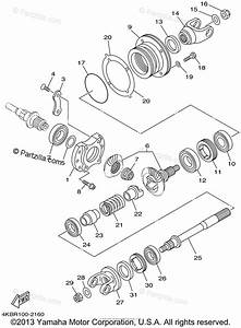 Yamaha Atv 2002 Oem Parts Diagram For Middle Drive Gear