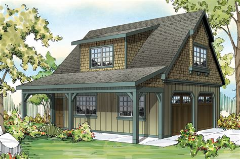 Craftsman House Plans-car Garage W/attic